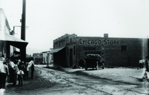 Chicago Music Store's original location in 1919, at the corner of Meyers and Mesilla.